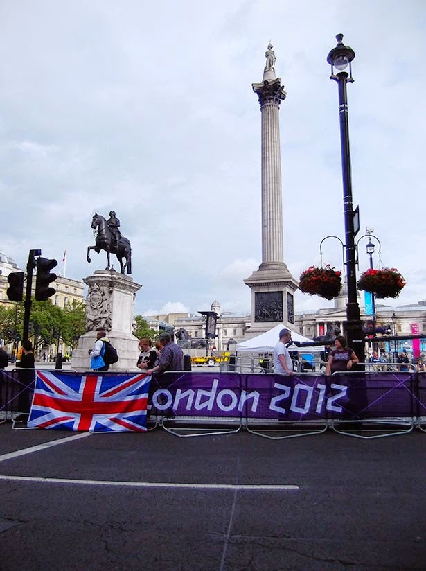 Women's marathon in Trafalgar Square at the London 2012 Olympic Games