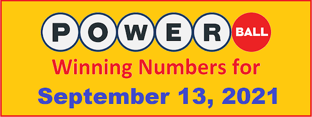 PowerBall Winning Numbers for Monday, September 13, 2021