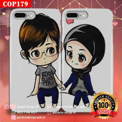 Desain sendiri casing couple muslim terbaru free COP179