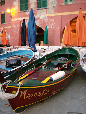 Cinque Terre boat on village street