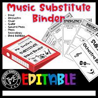 Music Sub Template Binder $7.50