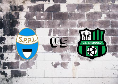 SPAL vs Sassuolo  Resumen