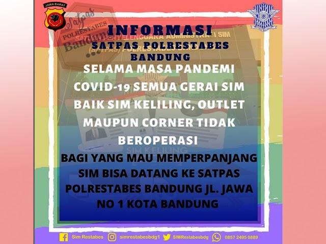Ini Perubahan Layanan Perpanjangan SIM di Kota dan Kabupaten Bandung