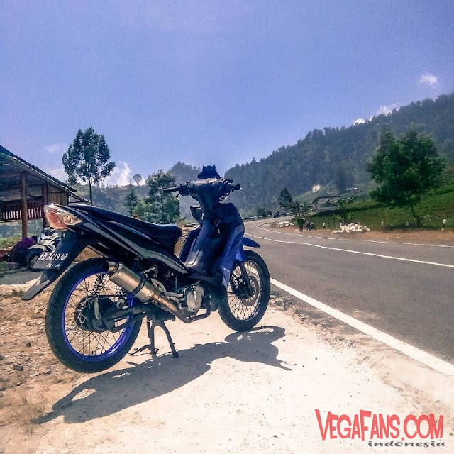 Modifikasi Vega RR Biru Modif Road Race