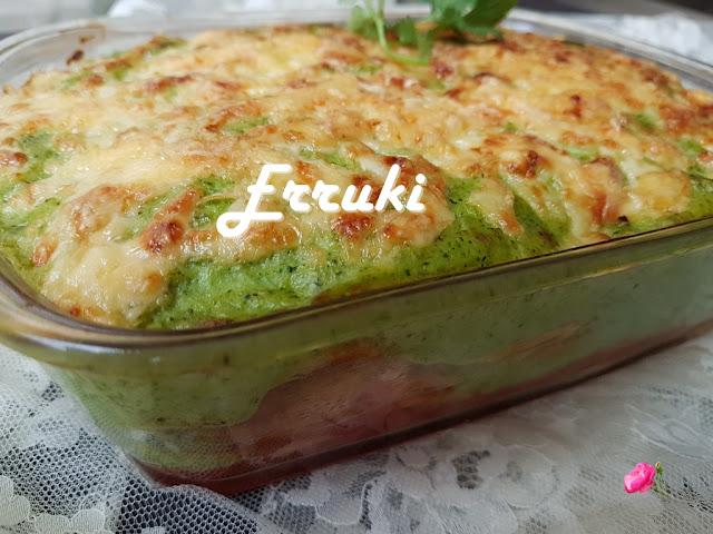 Lasaña de patata y brócoli
