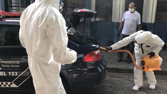 Santo André - Empresa Dr. Ácaro promove higienização e desinfecção de viaturas da GCM e do COI- Centro de Operações Integradas para evitar o coronavírus