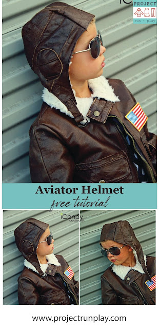 Aviator helmet hat tutorial