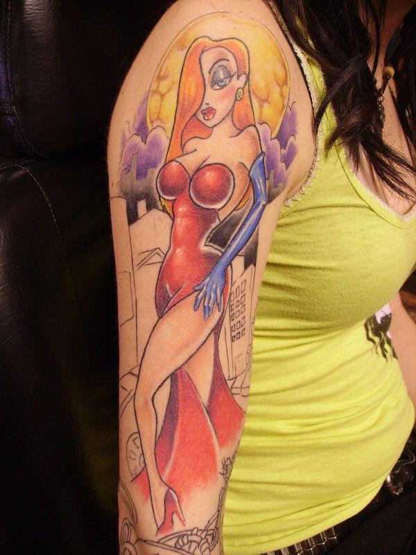 tatuaje de jessica rabbit