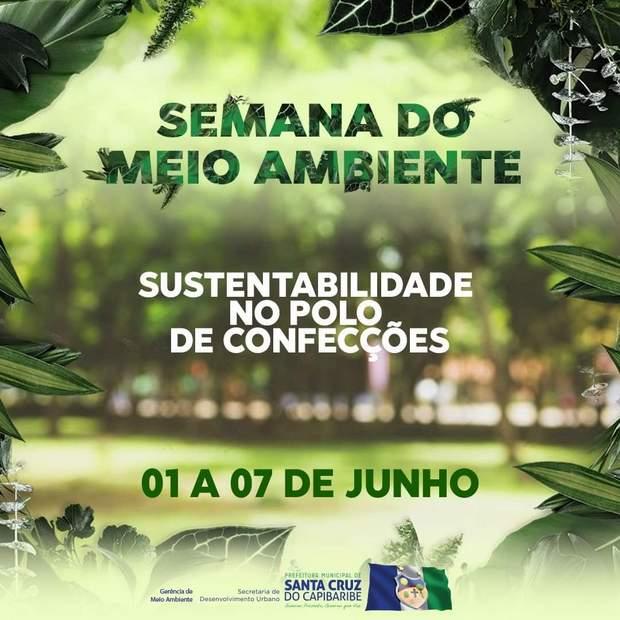 Dia Mundial do Meio Ambiente será marcado por várias atividades em Santa Cruz do Capibaribe