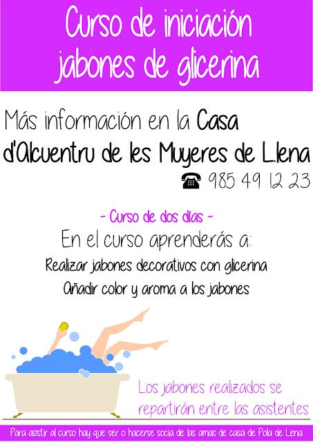 Curso iniciación jabones de glicerina en la Casa de Alcuentru de les muyeres de Pola de Lena, Asturias