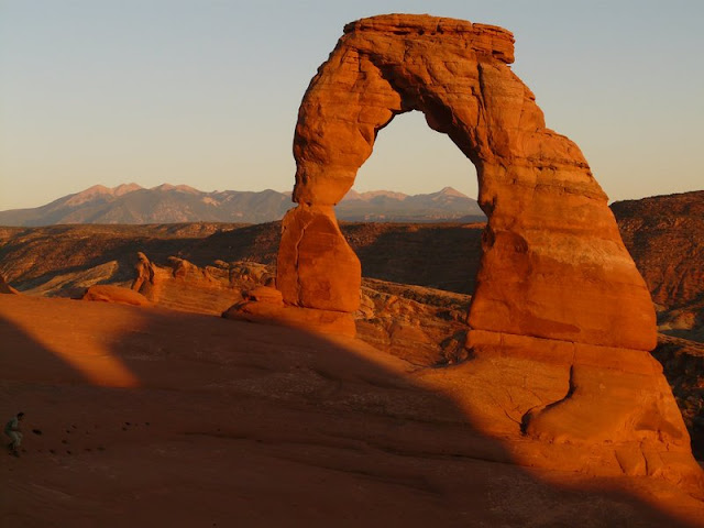 Stone and Hole at Sahara Desert