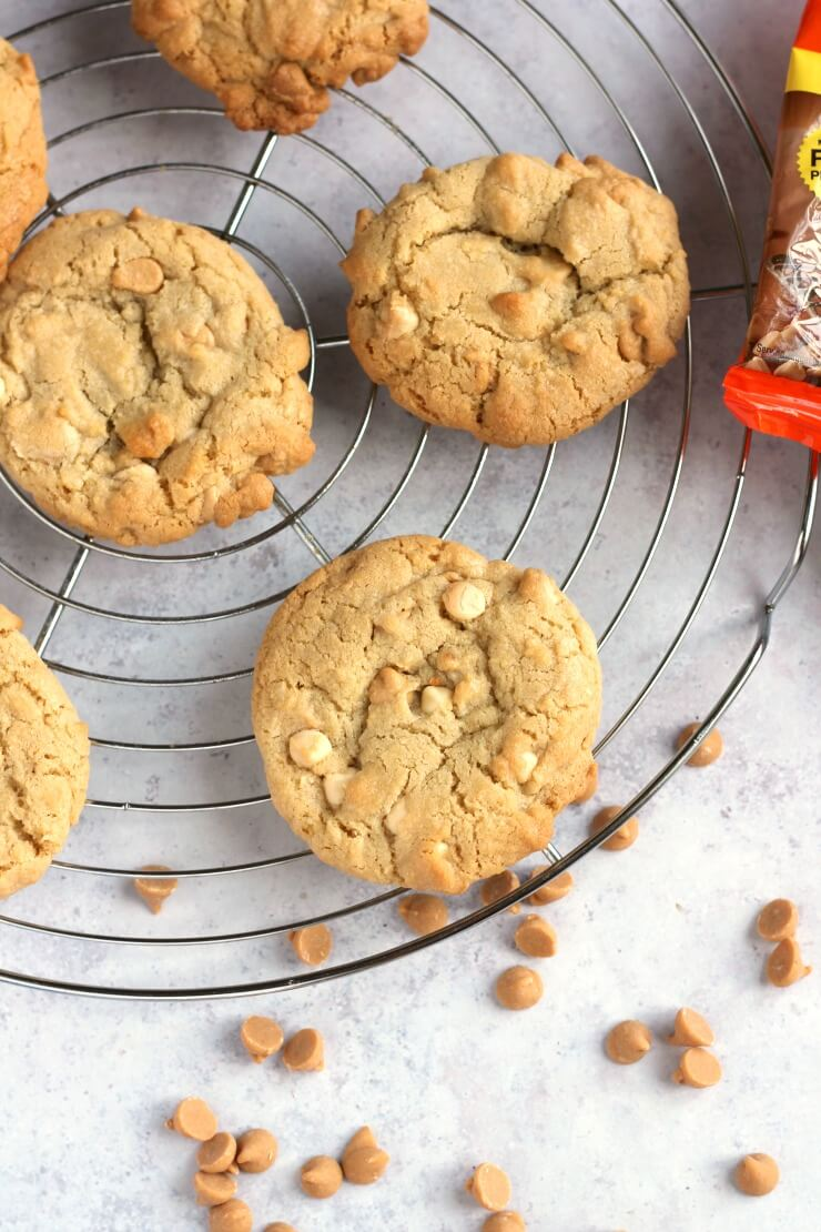 Baked Peanut Butter Chip Cookies