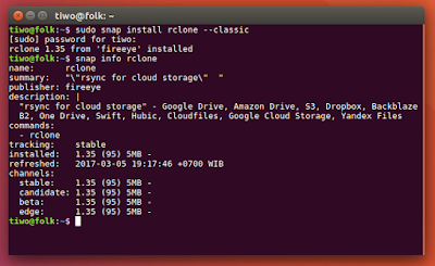 Install Rclone from Snap Package in Ubuntu Linux