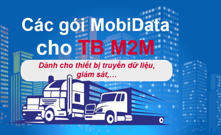 Các gói cước M2M Mobifone dành cho Khách hàng doanh nghiệp