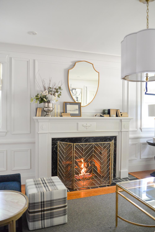 cozy home decor, fall mantle, fall home decor