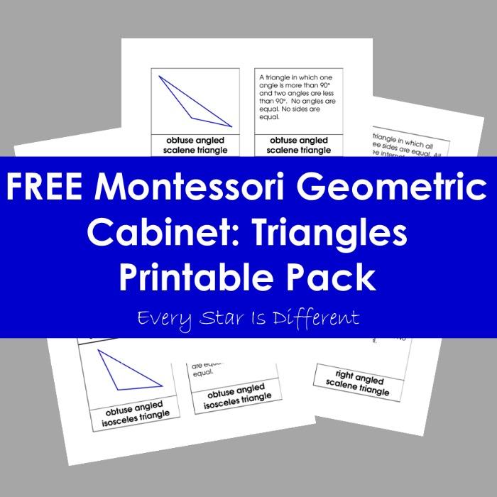 Montessori Geometric Cabinet: Triangles Printable Pack