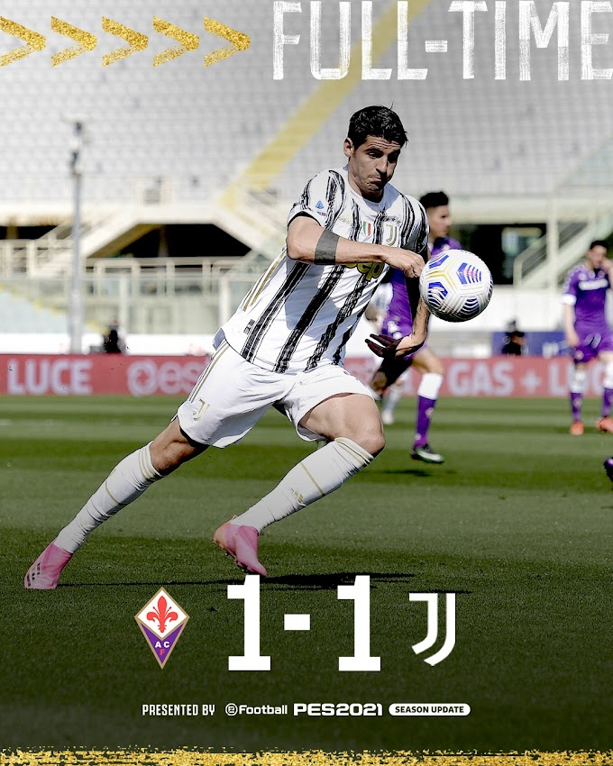 Serie A: la Juventus si ferma ancora. 1-1 a Firenze