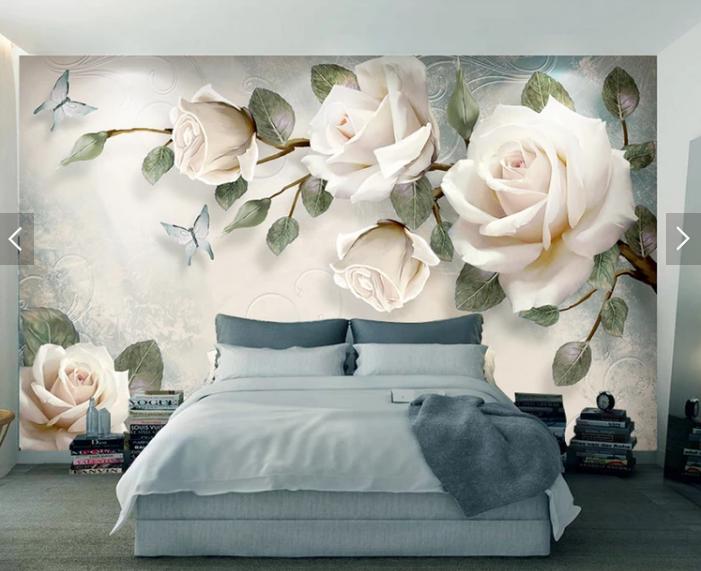 Tranh dán tường 3e hoa hồng
