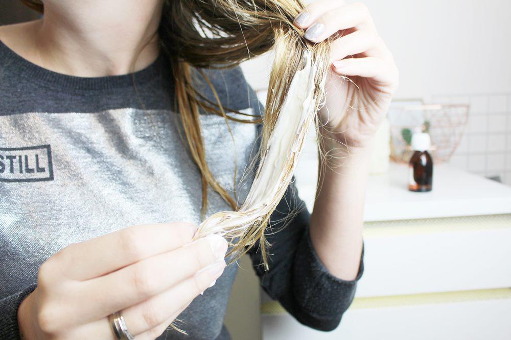 majonez na włosy