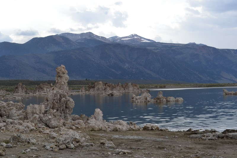 Mono lake, lac, californie
