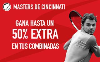 sportium extra en Combinadas Masters Cincinnati 2017