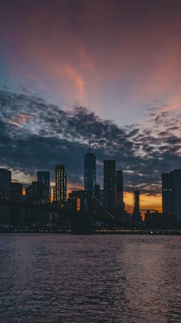 Free Evening Sky Twilight City wallpaper