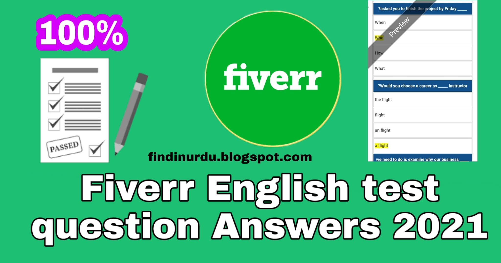Fiverr English test question Answers 2021 | fiverr English Skill Test Answers 2021