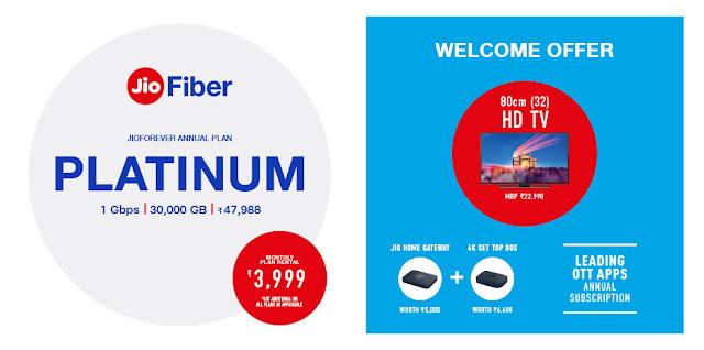 Jio Fiber Platinum Plan