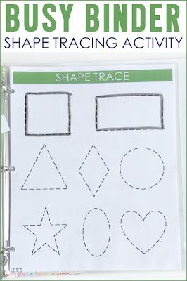 Shape Tracing Mat Busy Binder