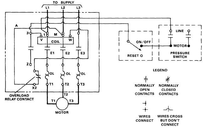 Motor Control Schematics Three Phase Motor Control Circuit Diagram