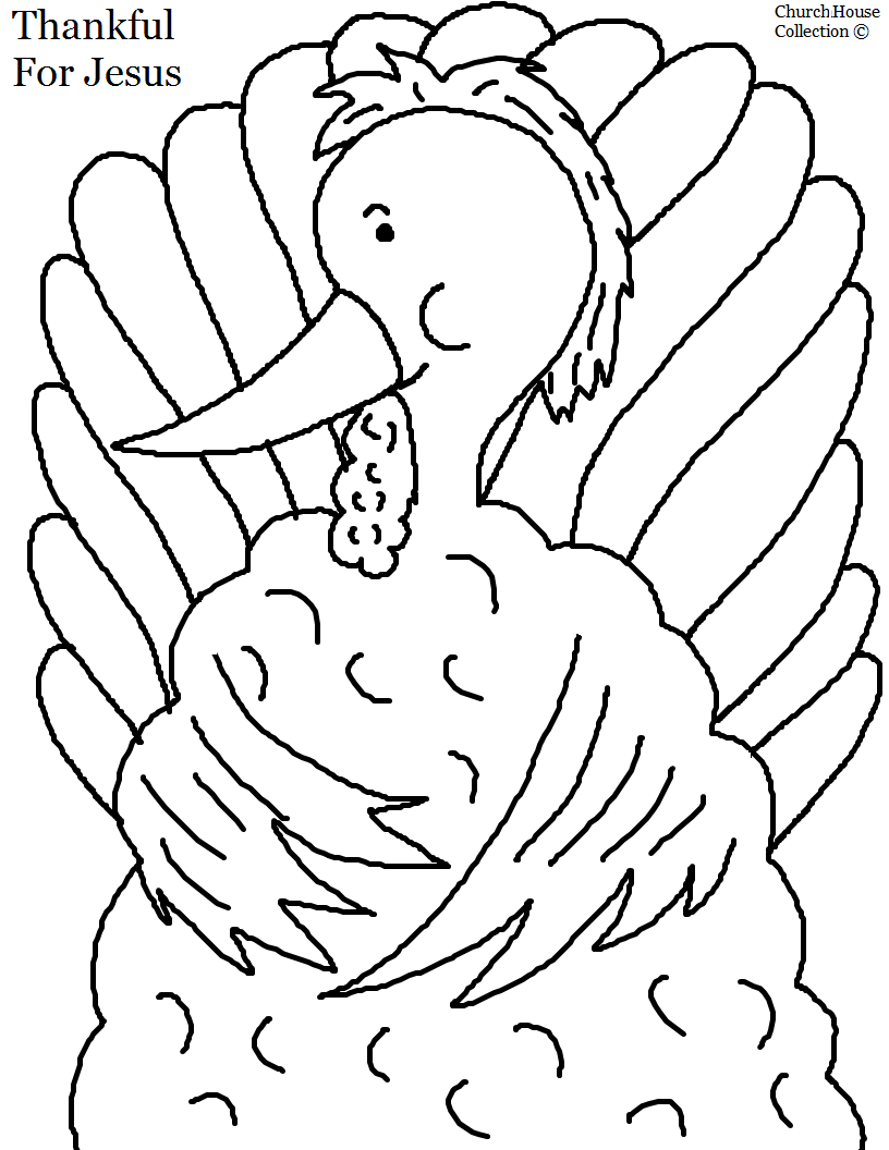 Church house collection blog thanksgiving turkey coloring for Thanksgiving coloring pages for children s church