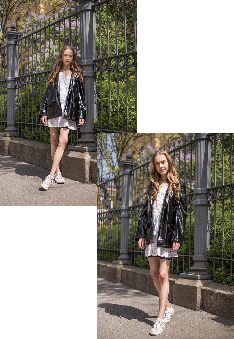 Mustavalkoinen asu kesään // Black and white summer outfit