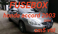 letak box sekring HONDA ACCORD VTIL 2003-2004