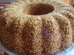 Tahini Cake with Sesame Coating (Susam Mantolu Tahinli Kek)