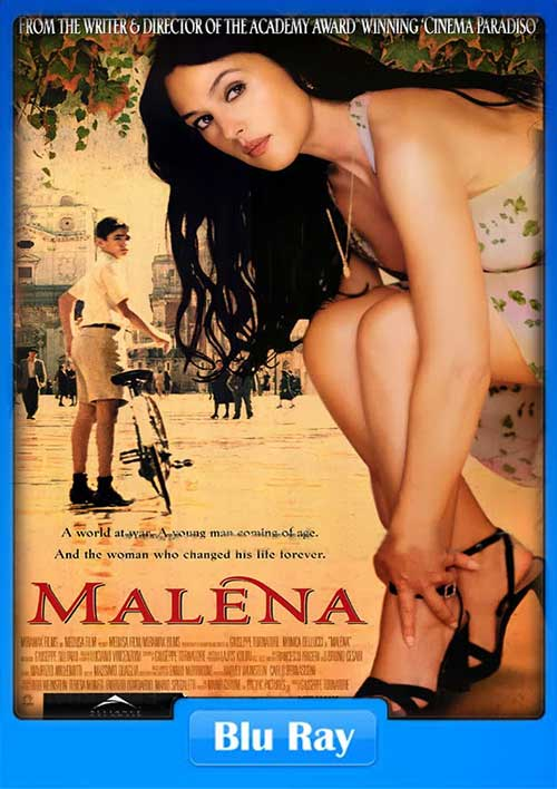 18+ Malena 2000 UNCUT 720p Bluray 800MB x264 Comedy, Drama, Romance, War Hollywood Full Movie Free Download and Watch Online HD