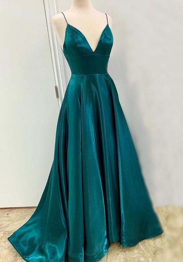 vestido de festa longo verde esmeralda para madrinha de casamento
