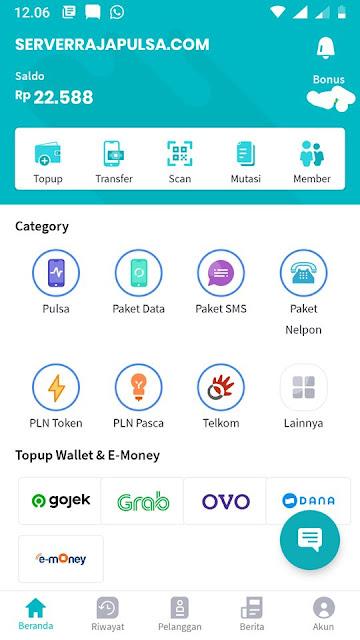 Aplikasi Android Raja Mobile Topup
