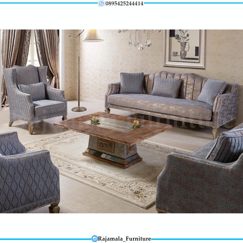 Set Sofa Tamu Minimalis Jati Natural Rustic Luxury Classic RM-0095