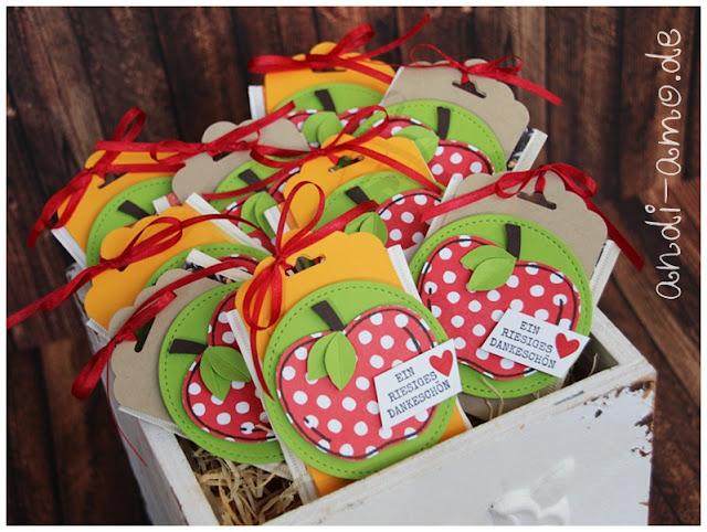 Schnelle Goodies für Teebeutel mit Apfel