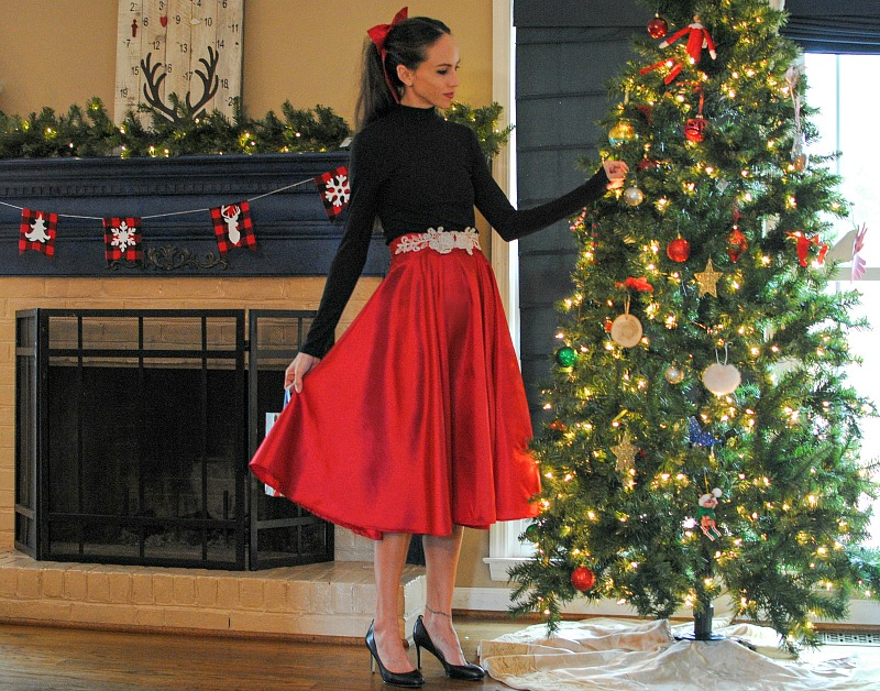 DIY Christmas Skirt