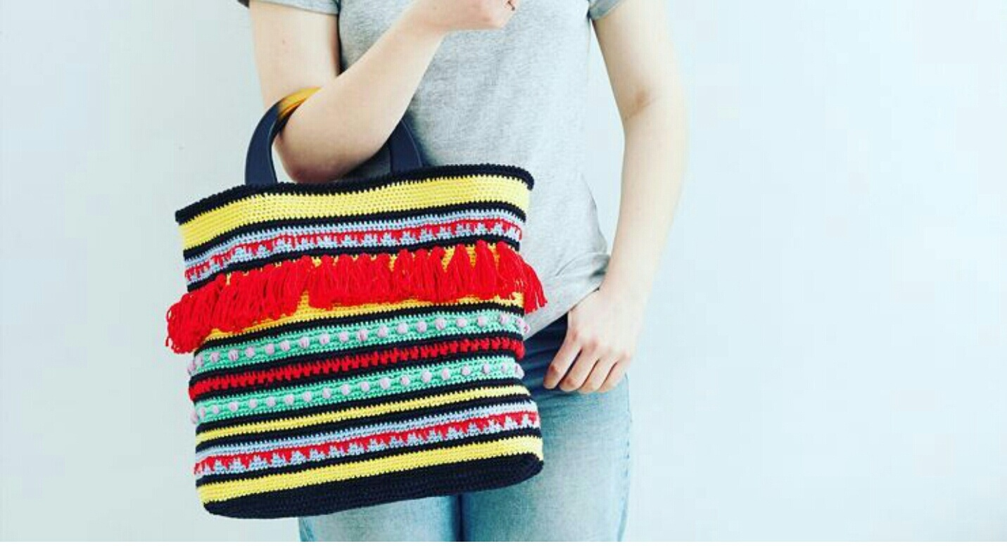 free crochet pattern bag boho beach bohemian cotton tribal