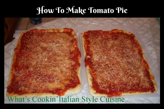 how to make tomato pie from Utica New York style