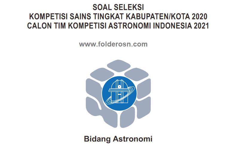 SOAL KSN ASTRONOMI 2020