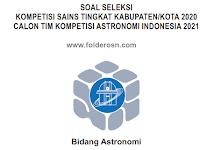 SOAL DAN KUNCI JAWABAN KSN ASTRONOMI 2020 TINGKAT KABUPATEN