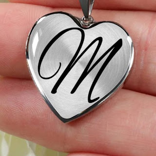 m letter locket image