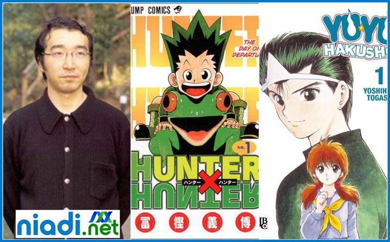 yoshihiro togashi buku, yoshihiro togashi film dan acara tv, yoshihiro togashi dead, naoko takeuchi, yoshihiro togashi sakit