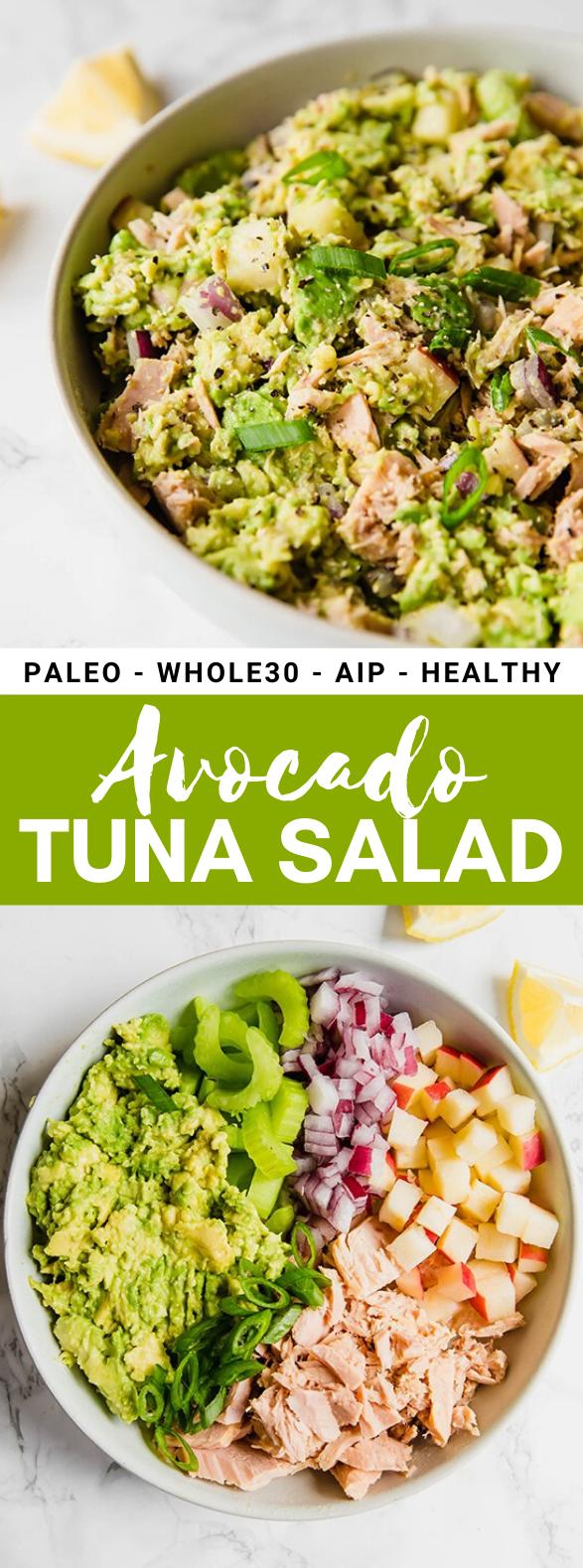 AVOCADO TUNA SALAD (PALEO, WHOLE30, AIP) #healthy #diet