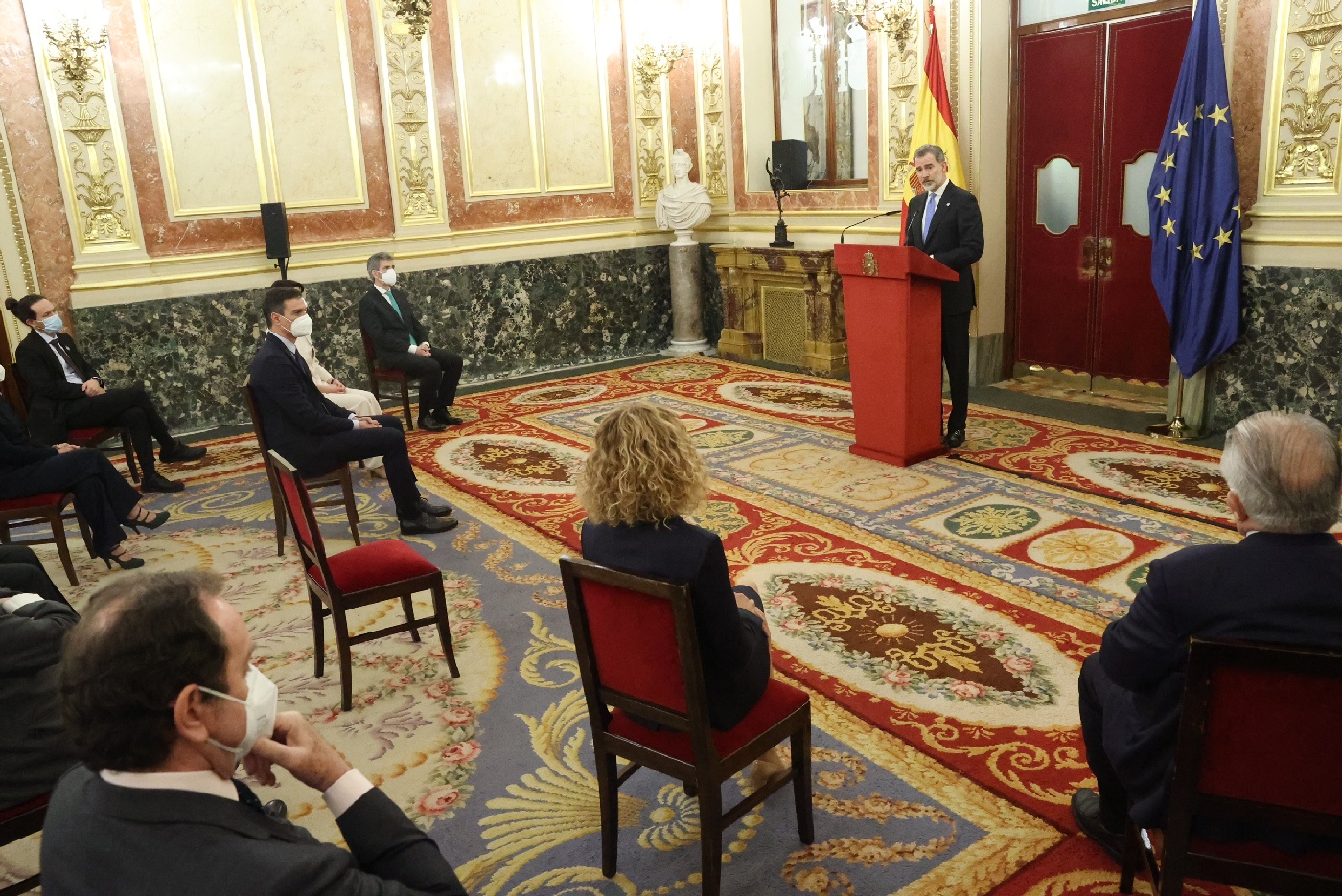 King Felipe of Spain attended 40TH Anniversary oF February 23, 1981's Institutional Act in Madrid