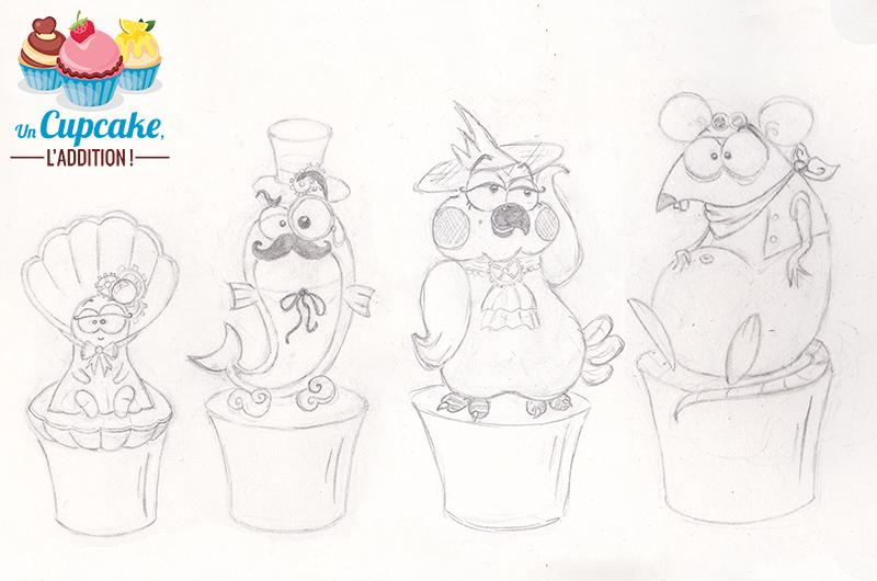 Cupcakes « La Famille Raton de Jules Verne » - Sébastien Haramendy d'Un Cupcake, l'Addition !