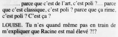 "Gênesse  ""Arabécédesque"" (Olivier Goldsmith) Jean Racine Iphigénie"